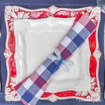 4th of July tablescape place setting